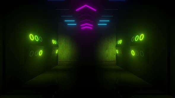 Thumbnail for Neon Tunnel With Alpha Channel Opener 4k