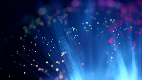 Thumbnail for Optical fiber flash over dark background
