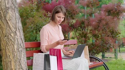 Caucasian Woman Shopping Online