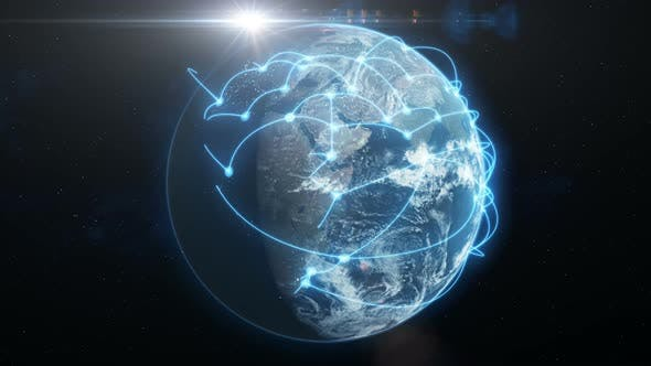 Thumbnail for Global Business and Communications Network - Blue