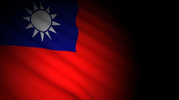Cover Image for Taiwan Flag Blowing in Wind