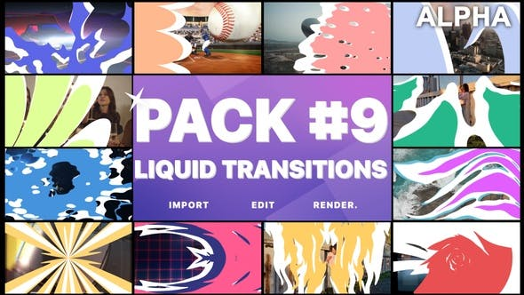 Thumbnail for Liquid Transitions Pack 09 | Motion Graphics Pack