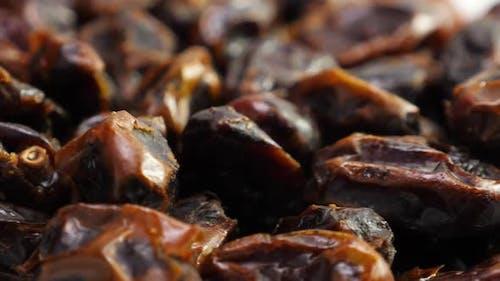 Datteln Obst Hintergrund. Getrocknetes Datum, Nahaufnahme