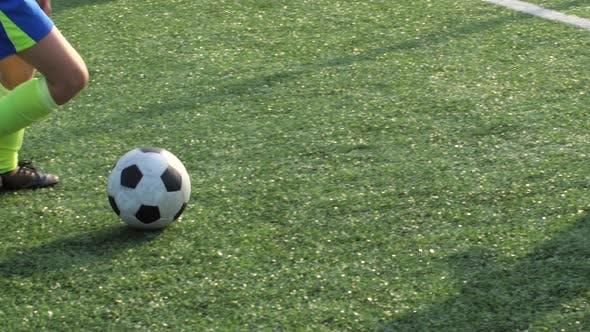 Thumbnail for Soccer Forward Dribbling Ball and Scoring Goal