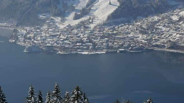 Thumbnail for Zeller See surrounded by snowy mountains at Zell am See