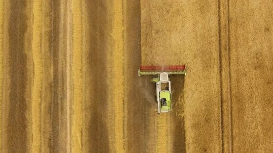 Thumbnail for Aerial View of Combine Harvester