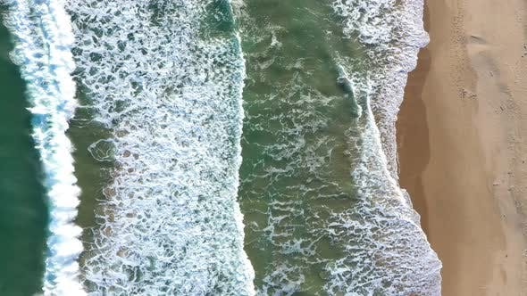 Thumbnail for Aerial view of big ocean waves