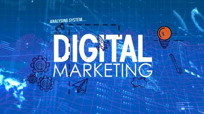 Digital marketing animation with digital codes