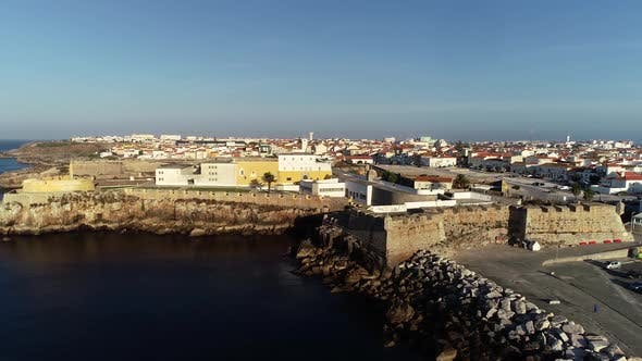 Thumbnail for City of Peniche in Portugal Aerial
