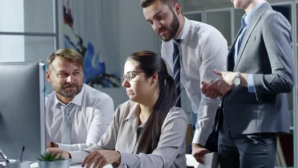 Cover Image for Female Business Leader Explaining Presentation to Team