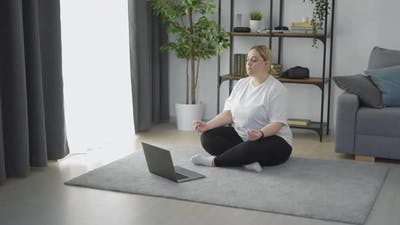 Overweight Woman Meditating