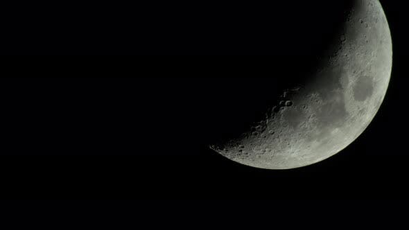 Thumbnail for Moon  UHD Close-up. Planet Satellite.