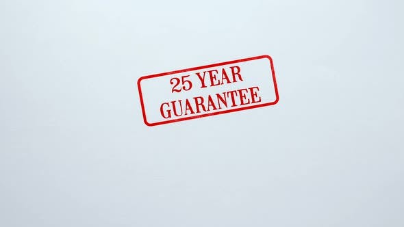 Thumbnail for 25 Year Guarantee Seal Stamped on Blank Paper Background, Product Quality