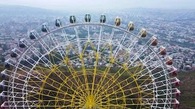 Tourists In The Ferris Wheel's Cabin