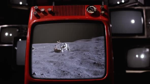 Thumbnail for Buggy in the Moon On a Retro TV.