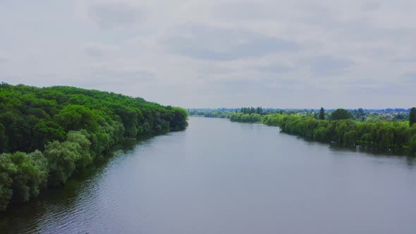 Cover Image for Aerial View River In Nature