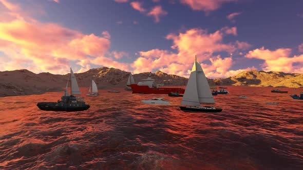Thumbnail for The sailing ship is sailing in the afternoon