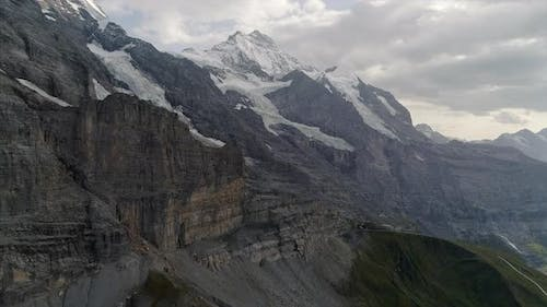 Eiger Glacier and Jungfrau in the Bernese Alps Switzerland