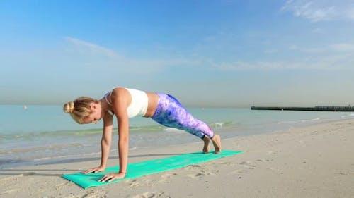 Yoga Upward Facing Dog and Downward Facing Dog