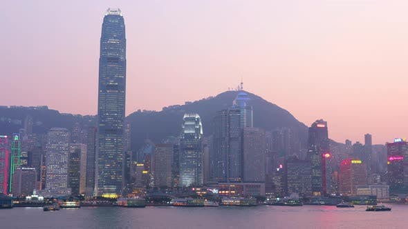 Thumbnail for Hong Kong harbour at night