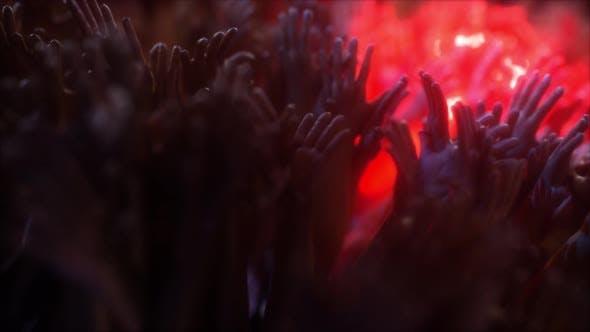 Concert Crowd Hands Dancing V3 4k
