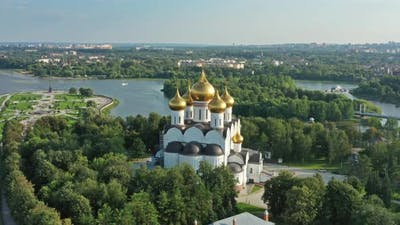 Assumption Cathedral in Yaroslavl Russia