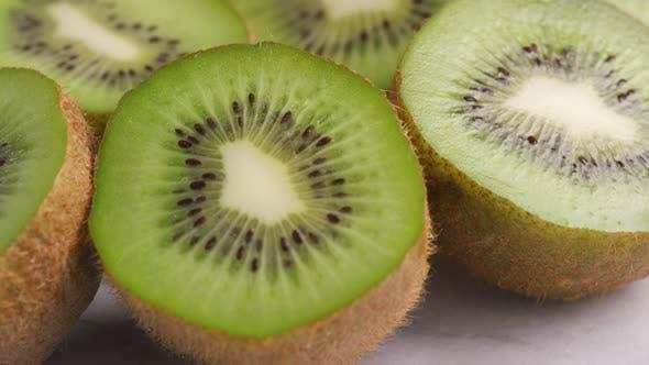 Thumbnail for Close-up shot of fresh kiwi fruit