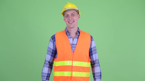 Thumbnail for Happy Young Man Construction Worker Smiling