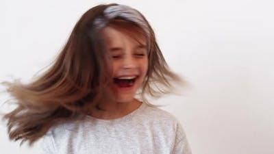 Joyful Kid Carefree Childhood Excited Happy Girl