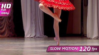 Ballerina in Red Tutu