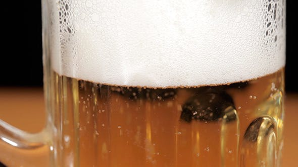 Thumbnail for Beer With Bubbles In a Glass