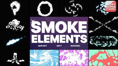 Rauchelemente Pack 06 | Bewegte Grafiken