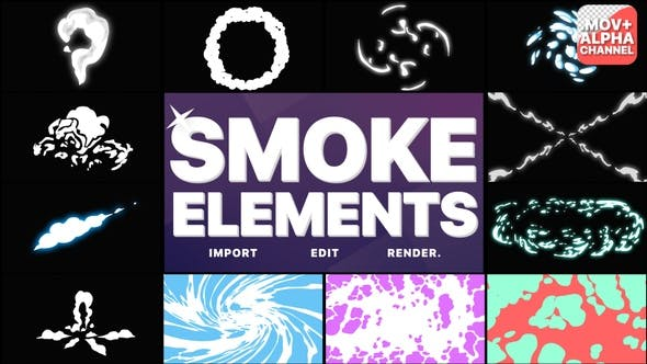 Thumbnail for Smoke Elements Pack 06 | Motion Graphics