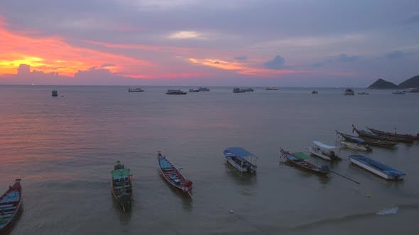Thumbnail for Sunset Over Boats