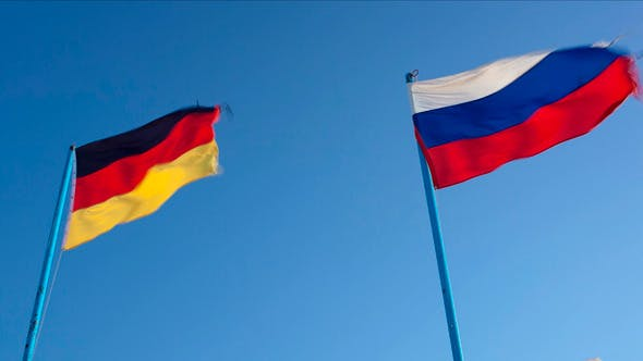 Russian And German Flags