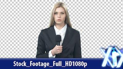 Journalist Reporting