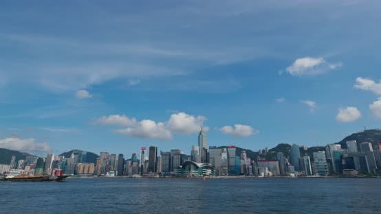 Cover Image for Victoria Harbor, Hong Kong skyline