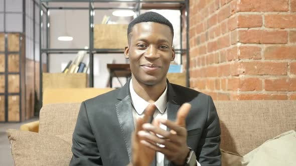 Thumbnail for Black Businessman Clapping, Applauding