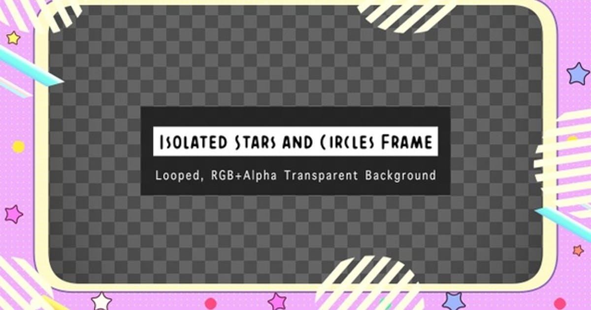 Isolated Stars And Circles Frame