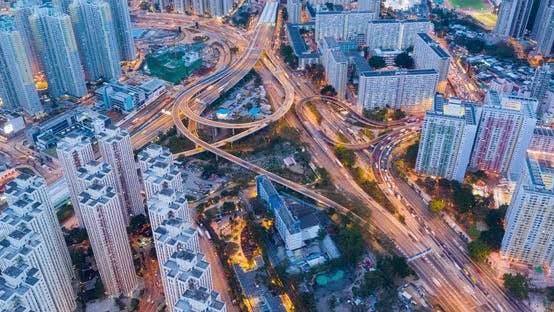 Thumbnail for Timelapse of Hong Kong city at night