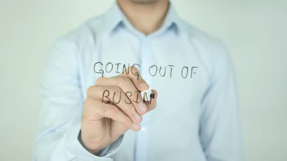 Thumbnail for Going Out Of Business�, Writing On Screen