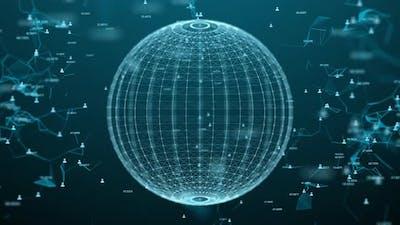 Digital population data on global - 4K