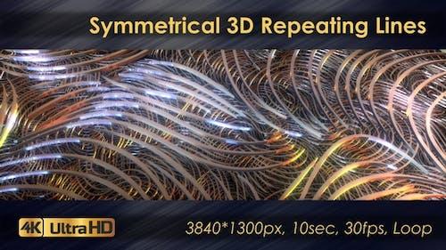 Symmetrical 3D Geometric Repeating Lines
