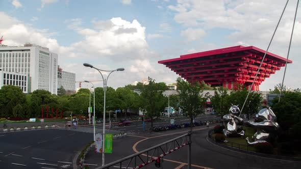Thumbnail for Pictorial China Pavilion As Shanghai Art Museum Timelapse
