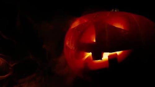 Scary Old Jack-o-Lantern
