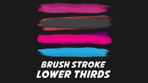 Brush Stroke Lower Thirds