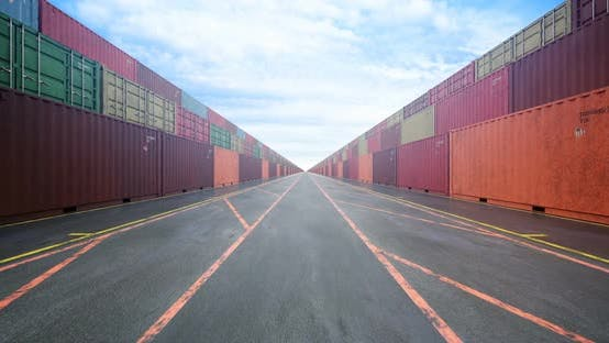 Cover Image for Endless Stacks of Cargo Shipping Containers Under Cloudy Sky