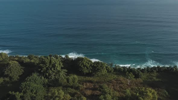 Thumbnail for Aerial View of Tropical Beach with Azure Blue Water and Foaming Ocean Waves
