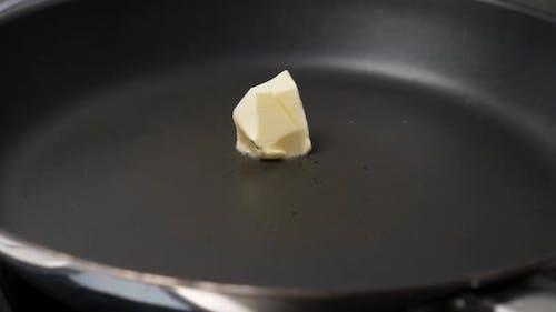 Melting Butter on Frying Pan