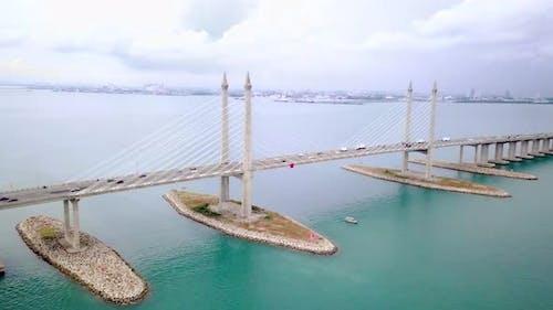 Penang Bridge Drone Shot